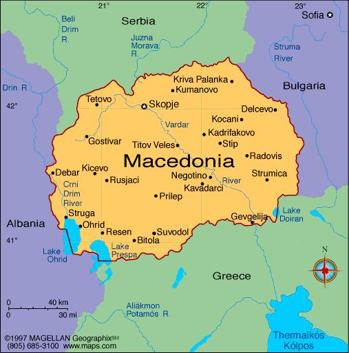 makedonia kart Nyttig fakta om Makedonia: (geografi2) makedonia kart